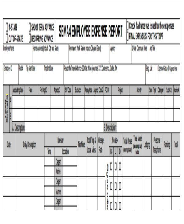 29+ Expense Report Template in PDF | Free & Premium Templates