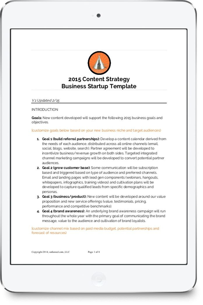FREE] Content Strategy Template for Startups and Small Business