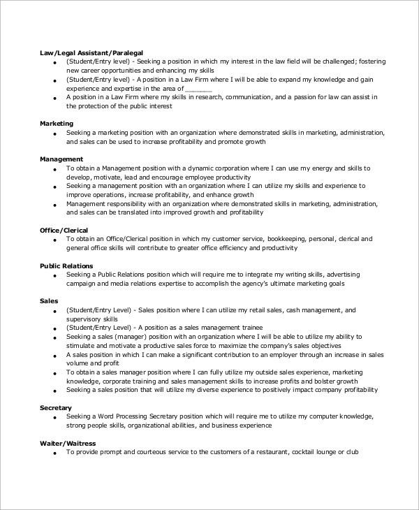 resume objective secretary secretary resume sample secretary
