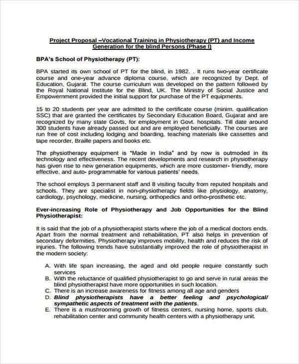 7+ Training Project Proposal Templates - PDF | Free & Premium ...