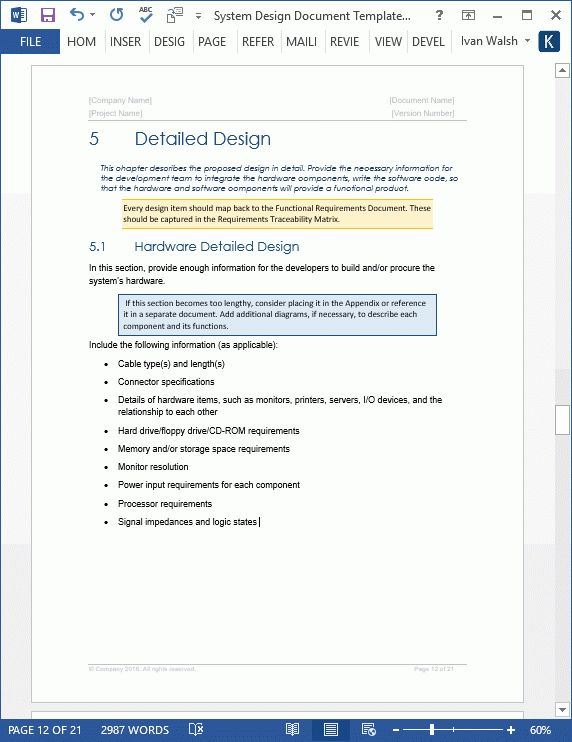 System Design Document Templates + Requirements Traceability ...