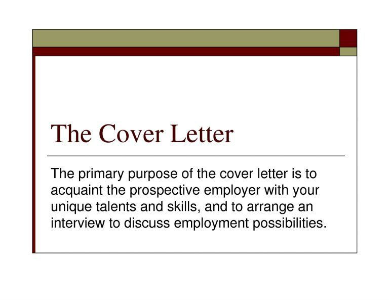 Beautiful Design Purpose Of A Cover Letter 8 Write On For Job ...