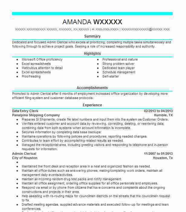 Best Data Entry Resume Example | LiveCareer