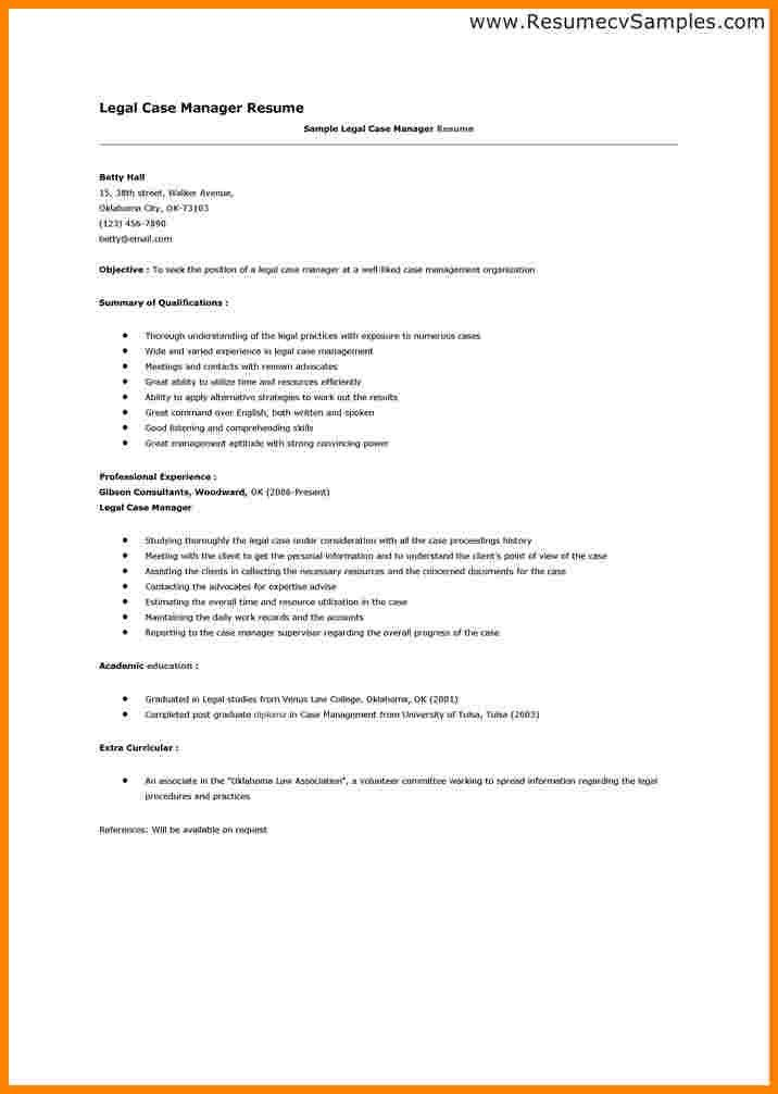 Case Manager Resume Examples free federal resume sample from resume