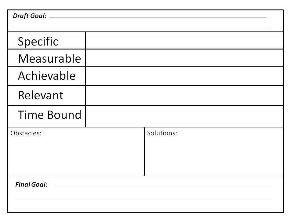 goal setting worksheet   Smart Goal Worksheet   Projects to Try ...