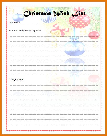 Christmas List Template.Christmas Wish List Template.png | Scope ...