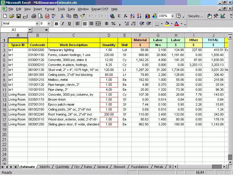 Construction Repair Cost Estimating Software. Estimate Repair ...