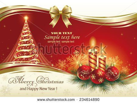 Christmas Card Vector - Download Free Vector Art, Stock Graphics ...