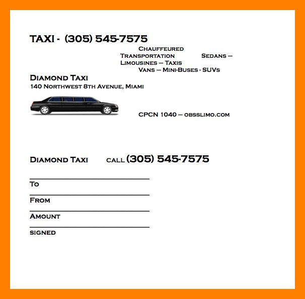 6+ taxi bill format in word   handy man resume
