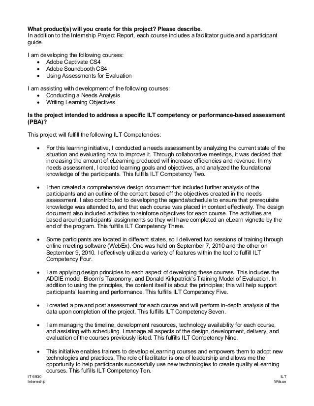 Internship Project Proposal