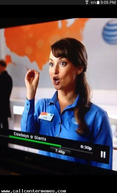 "At AT&T it's all about customer ""service"" - Call Center Memes"