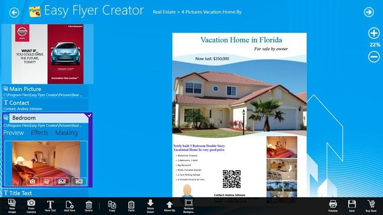 Easy Flyer Creator for Windows 8 and 8.1