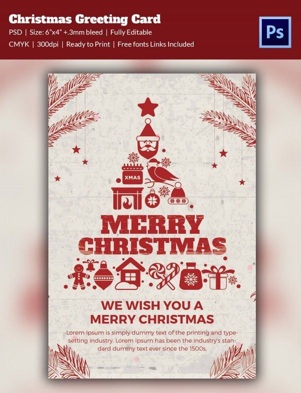 Christmas Card Psd Templates. free christmas greeting cards icons ...