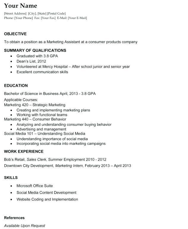 Objective In A Resume, resume examples whats a good objective for ...