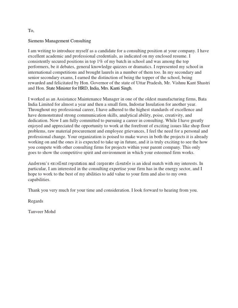 Consulting Cover Letters. Economic Consulting 10+ Consulting Cover ...