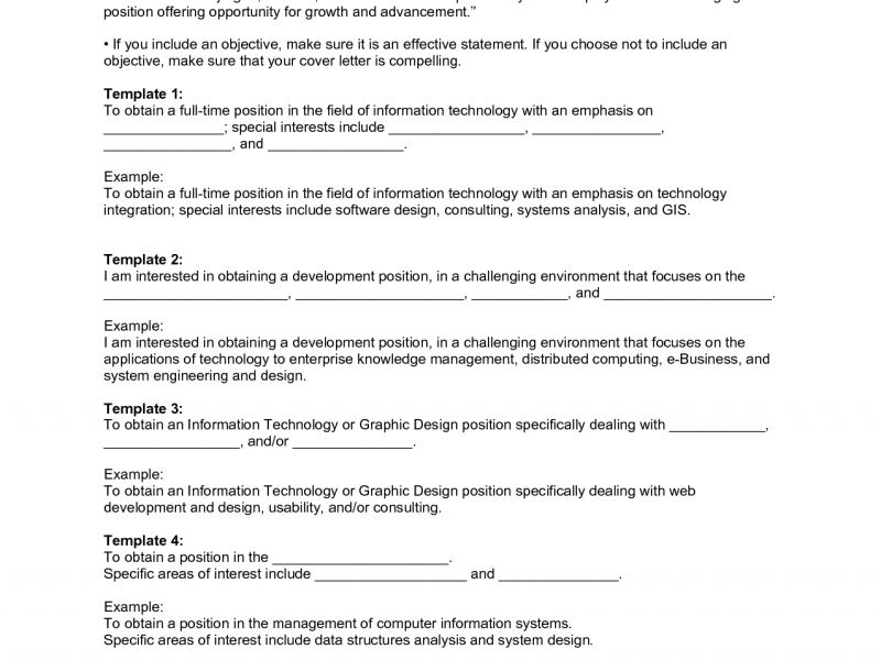 Interesting Resume Objectives Examples 11 Impressive Sample ...