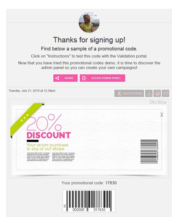 to offer coupons and promotional codes