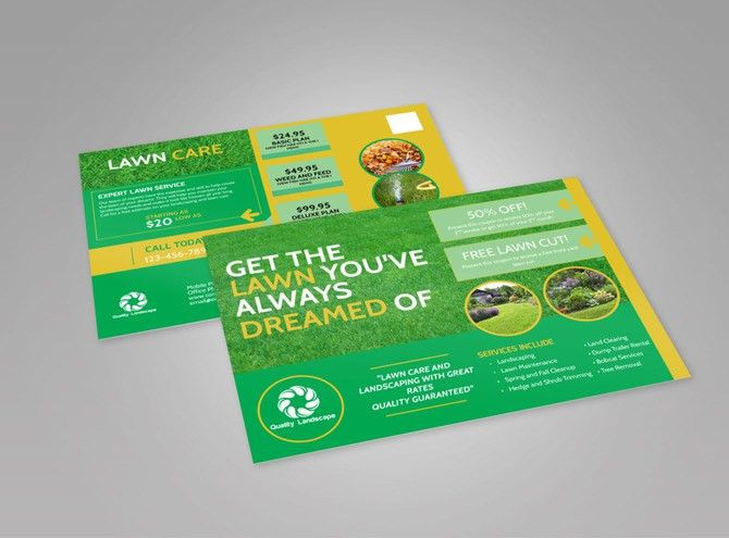 Lawn Care EDDM Postcard Template | MyCreativeShop