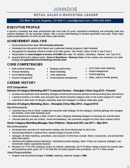 Best Marketing Executive Resume Samples. marketing executive ...