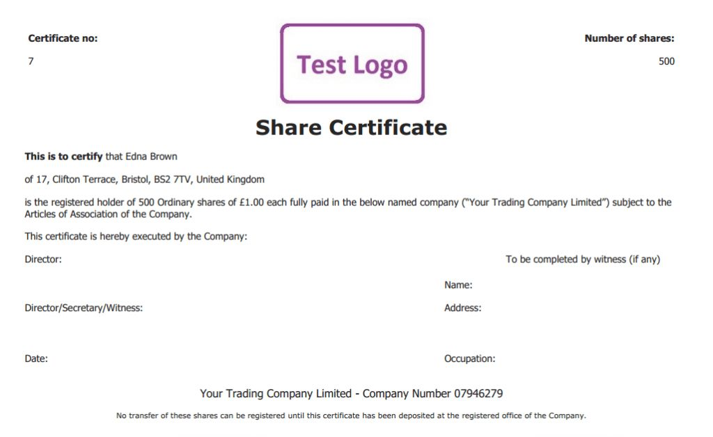 Company share certificates 13 sharestock certificate templates share certificate free template create manage and cancel share yadclub Images
