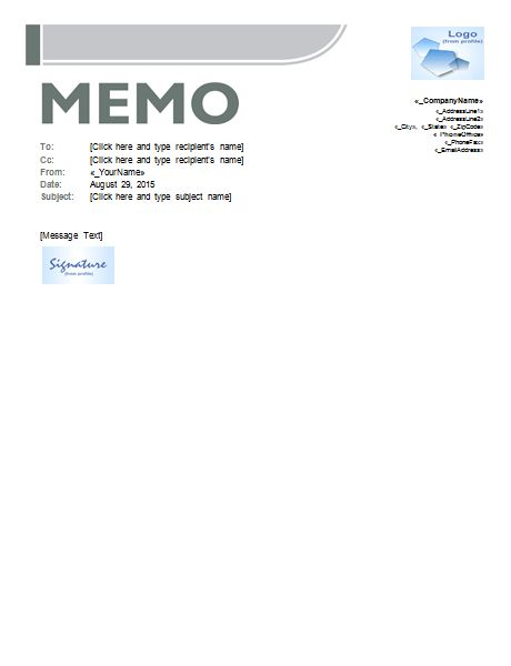 Memo Template - Templates for Microsoft® Word