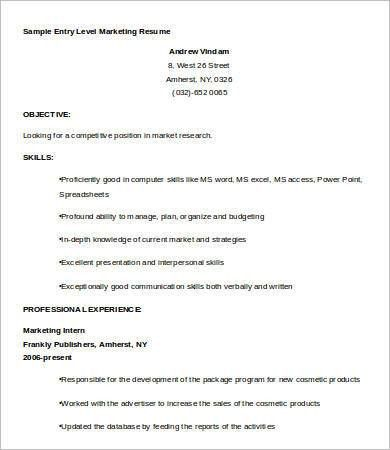 resume template entry level entry level resume templates to