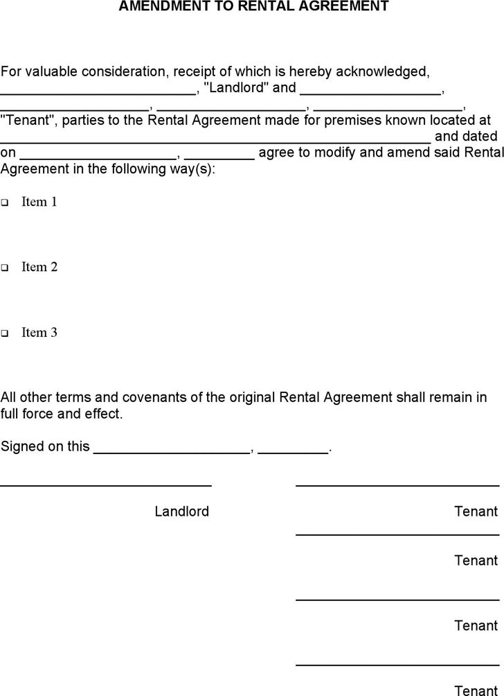 7 Rental Agreement Templates - Excel PDF Formats