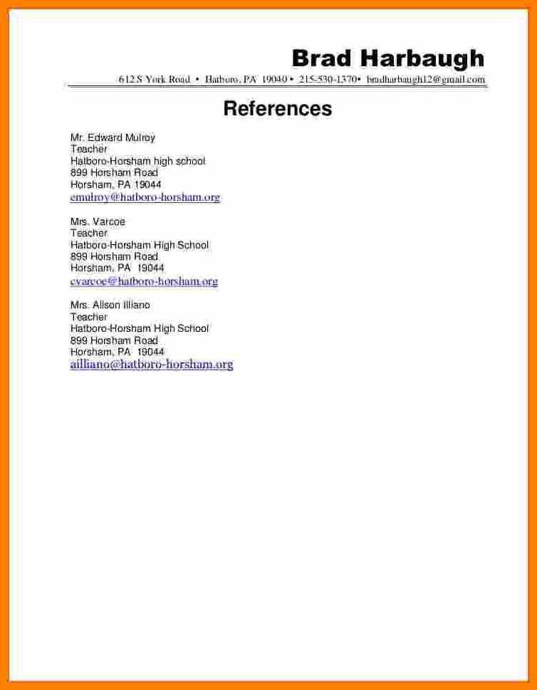 personal reference on resume professional letter template ...