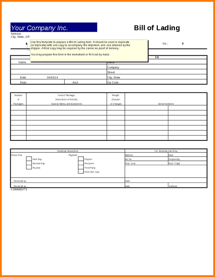 8+ Excel Bill Template | Receipt Templates