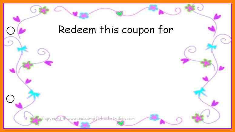 Blank Coupon   Thebridgesummit.co  Blank Coupon Templates