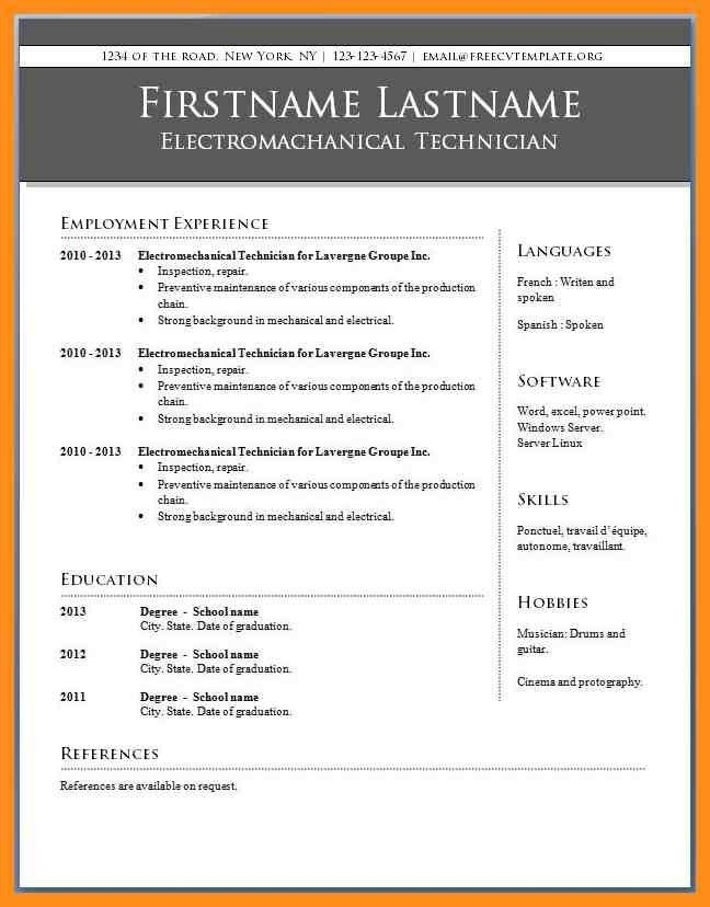 Word Resume Templates For Mac. resume template in word cv ...