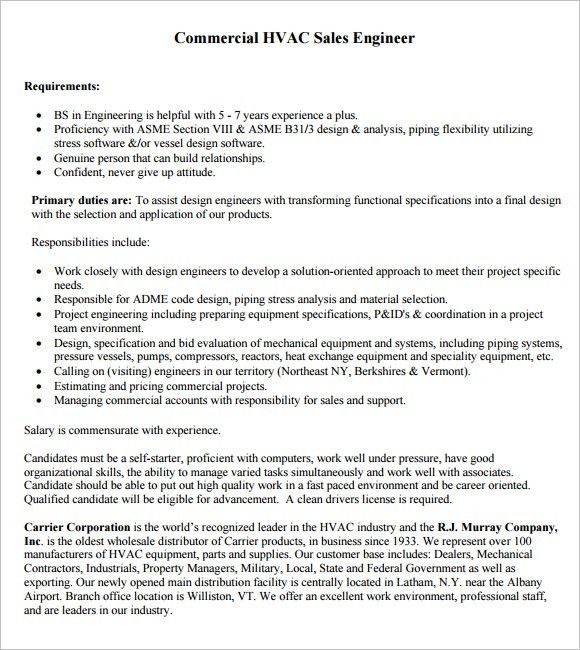 mechanical engineer hvac resume free pdf download refrigeration ...