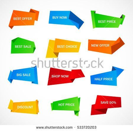 Vector Stickers Price Tag Banner Label Stock Vector 586416500 ...