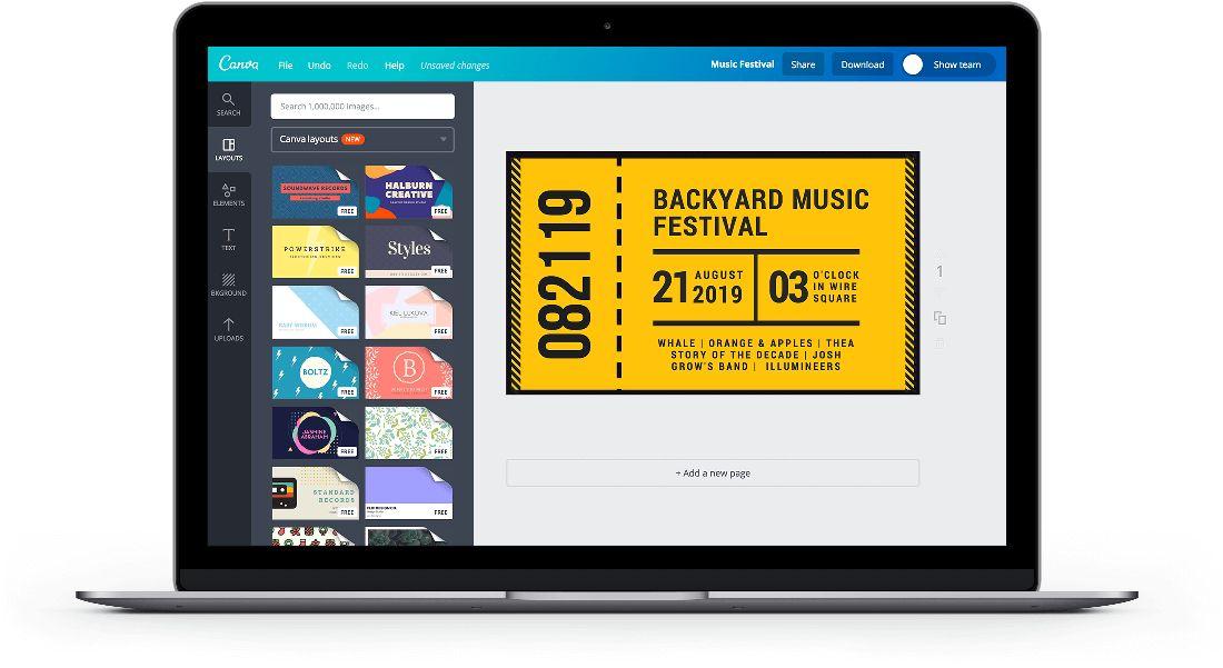 Free Online Tickets Maker: Design a Custom Ticket - Canva