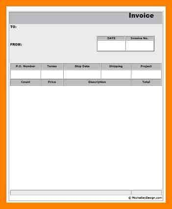 Sample Printable Invoice. Free Printable Invoice Template Word ...