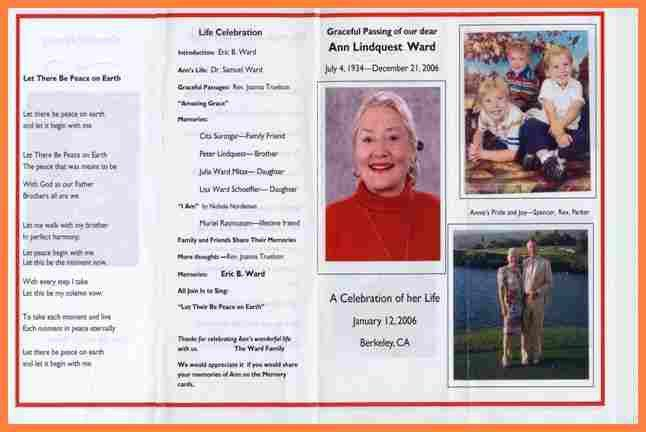 7+ examples of funeral programs | Invoice Example 2017