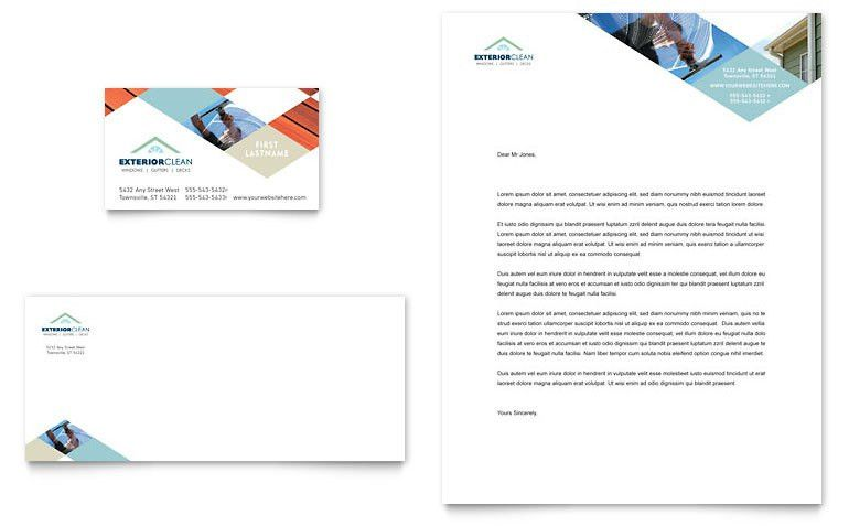 Window Cleaning & Pressure Washing Business Card & Letterhead ...