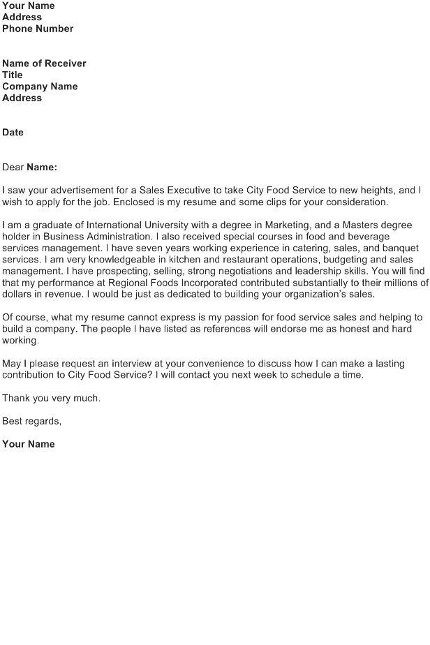 Job Application Letter Sample - Download FREE Business Letter ...