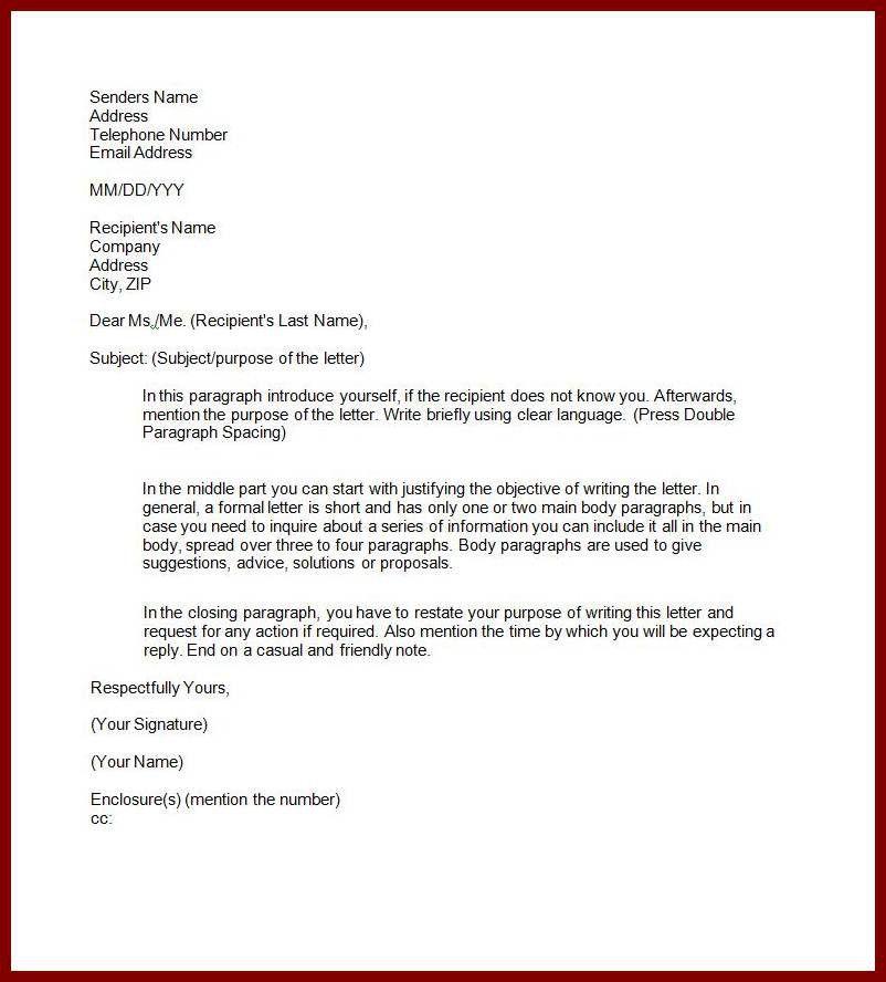15 Formal Letter (Letter to The Editer)   sendletters.info