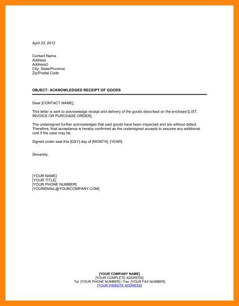 8+ acknowledgement receipt sample | nurse resumed