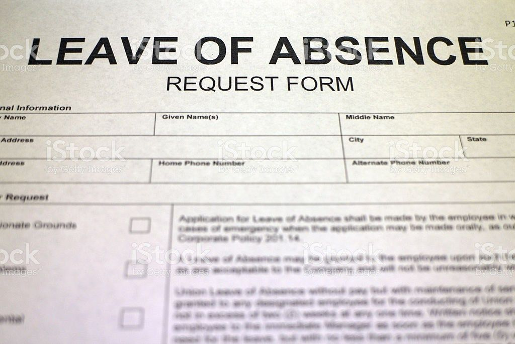 Leave Of Absence Request Form stock photo 488324173 | iStock