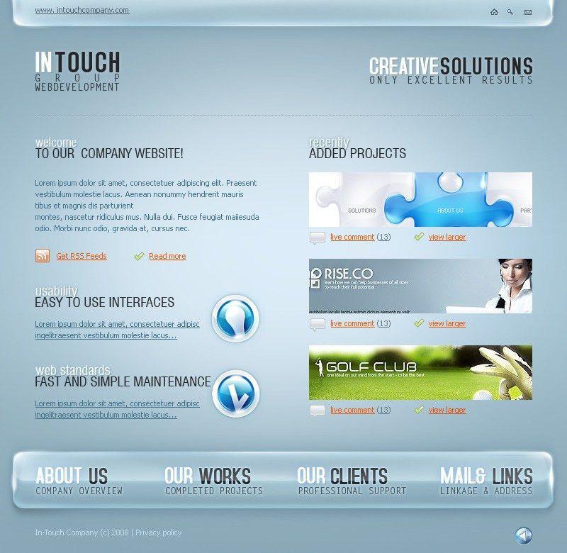 Website Template #19356 Creative Solutions Design Custom Website ...