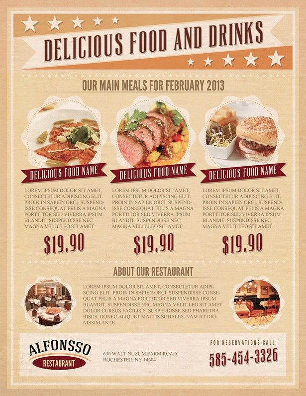 Restaurant Flyer Template | Menu Styles | Pinterest | Flyer ...