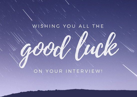 Purple Sky Good Luck Card - Templates by Canva