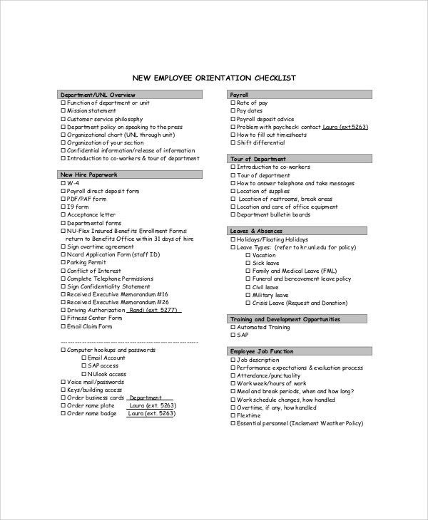 Sample Orientation Evaluation Form - 10+ Examples in Word, PDF