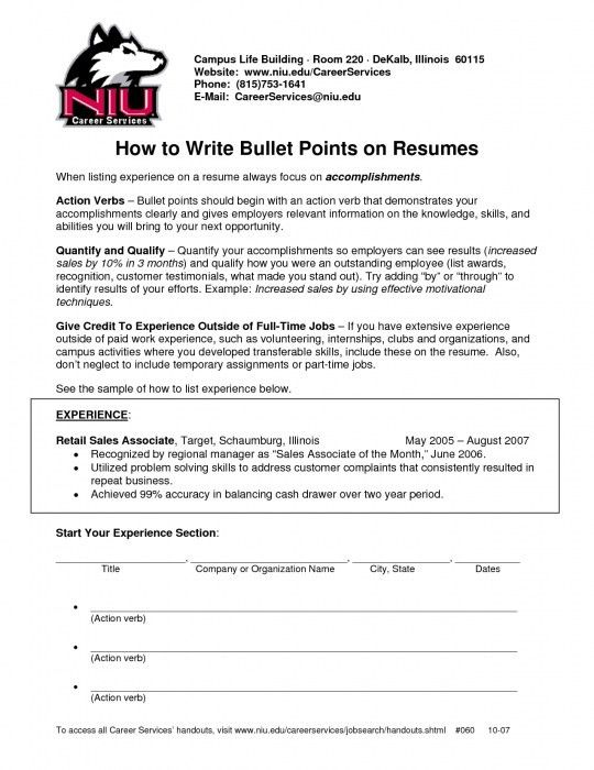 The Amazing Bullet Points On Resume | Resume Format Web