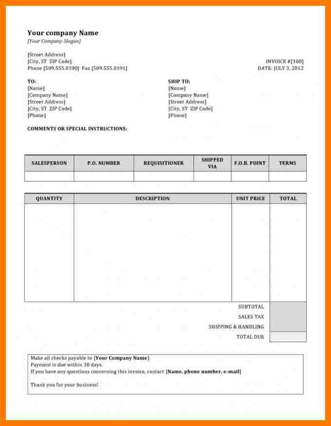 6+ invoice format doc | park-attendant