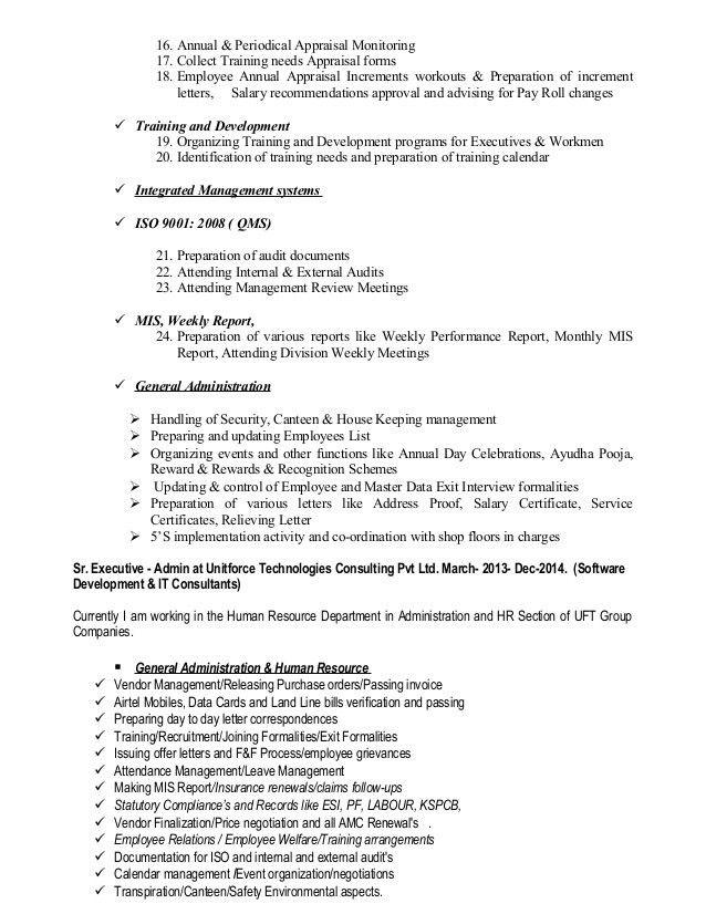 Resume Of Umesh