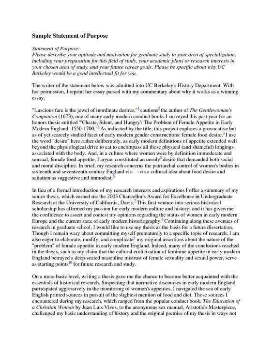 Residency application personal statement. The University of ...