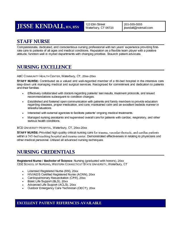 rn resume examples nurse cv example registered nurse resume ...